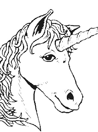 Fantasy Creatures Coloring Page Unicorn Head All Kids Network