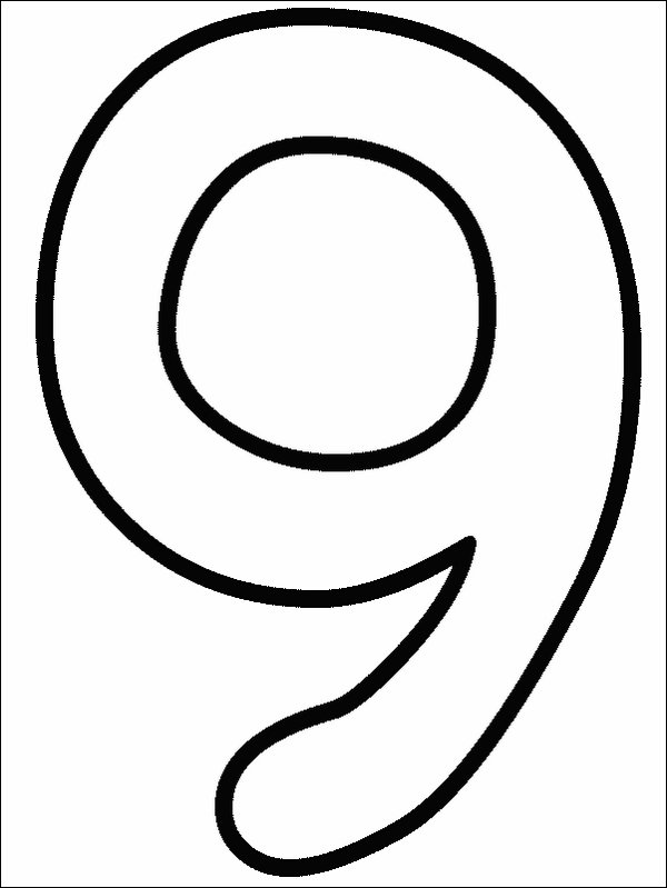 Coloring Pages Numbers 1 9 Coloring Pages