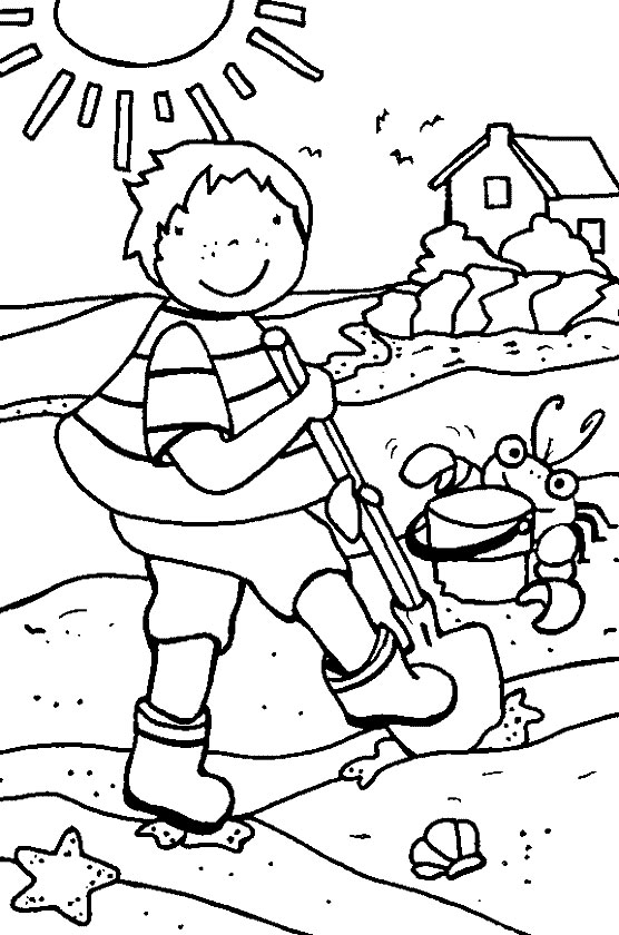 Kids Crafts and Activities: Summer Coloring Pages