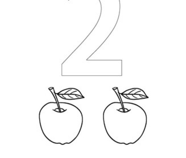 Numbers Coloring Page Number Two Coloring Page All Kids Network