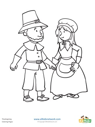 Pilgrims Coloring Page All Kids Network