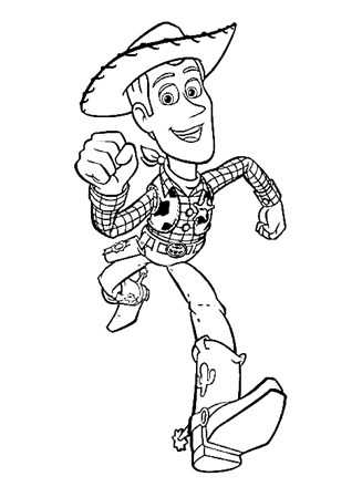 Toy Story Coloring Page Woody The Cowboy All Kids Network