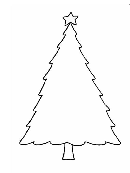 Christmas Crafts Print Your Christmas Tree Template All Kids Network