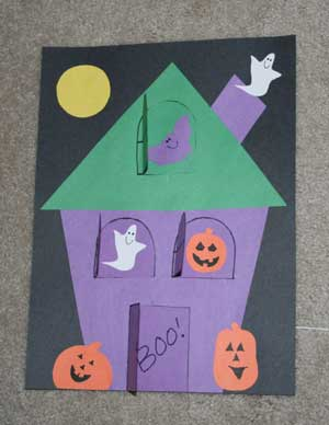 Lift The Flap Haunted House Craft All Kids Network
