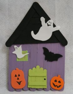 also popsicle stick haunted house craft all kids network rh allkidsnetwork