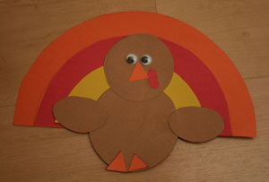shape turkey craft