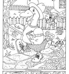 Hidden Pictures Page - Print your Hidden Pictures Duck School page   All  Kids Network [ 1469 x 927 Pixel ]