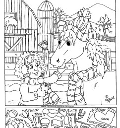 Hidden Pictures Page - Print your Hidden Pictures Feeding Horse page   All  Kids Network [ 1264 x 1078 Pixel ]