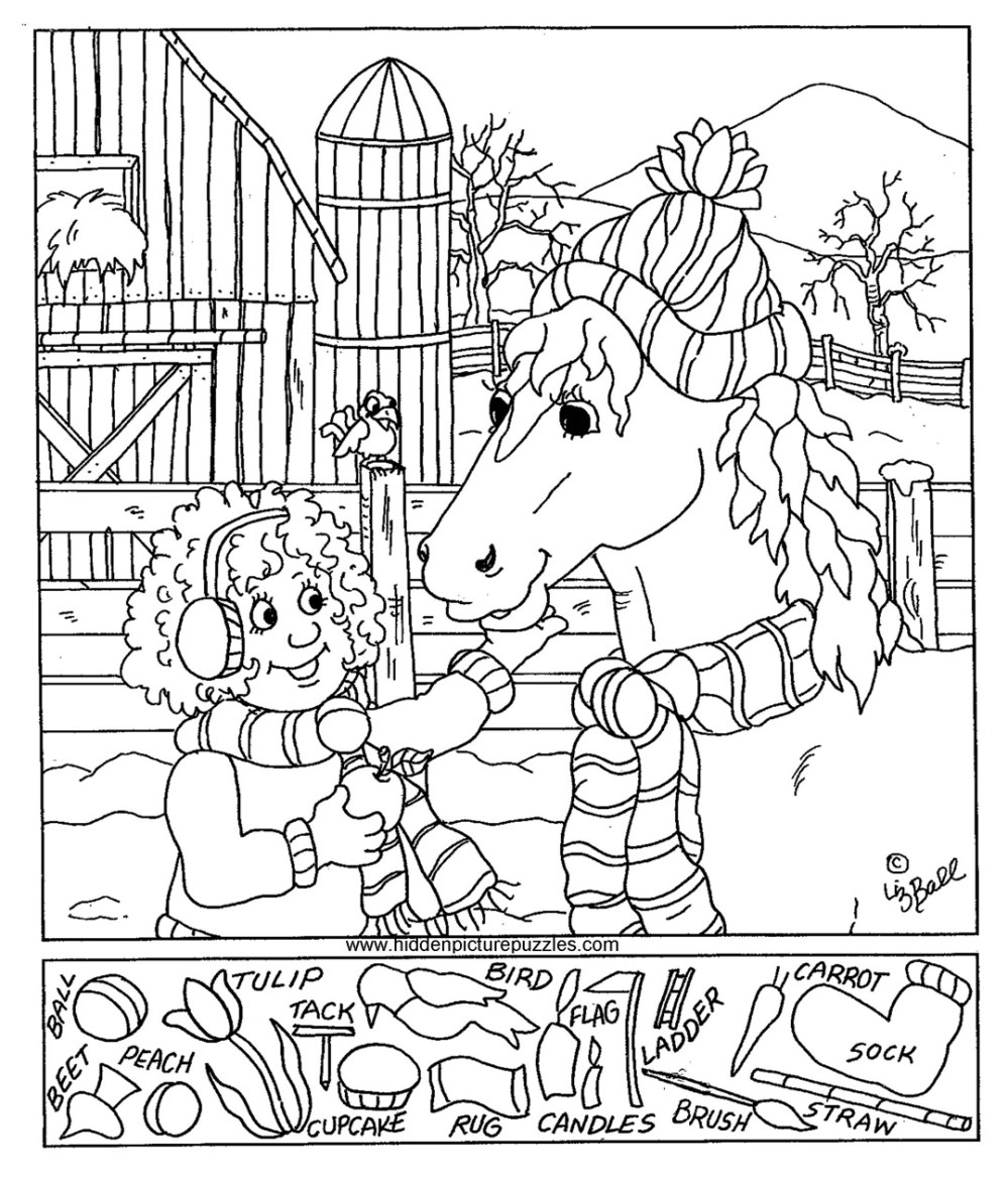 medium resolution of Hidden Pictures Page - Print your Hidden Pictures Feeding Horse page   All  Kids Network