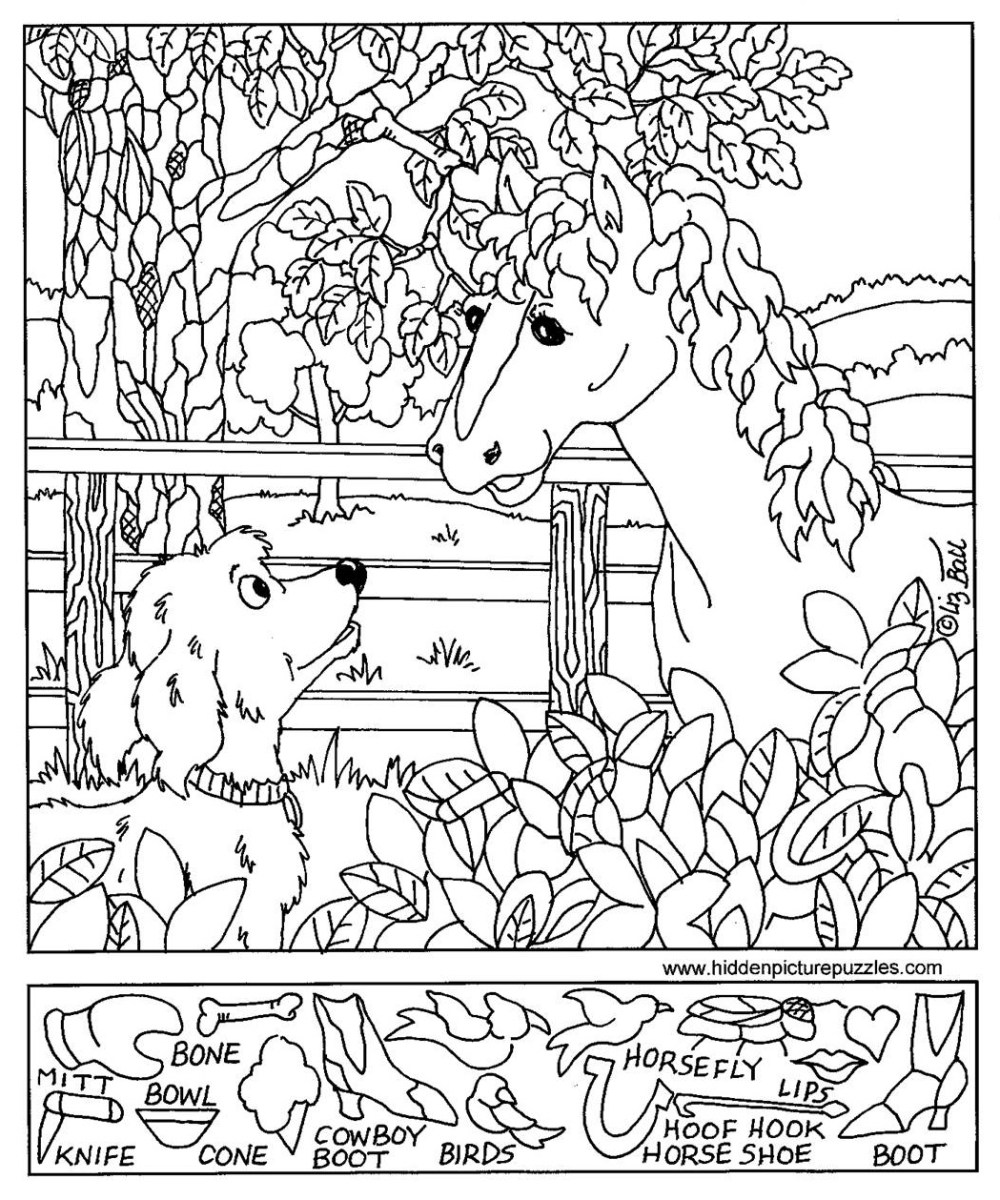 medium resolution of Hidden Pictures Page - Print your Hidden Pictures Horse Dog page   All Kids  Network