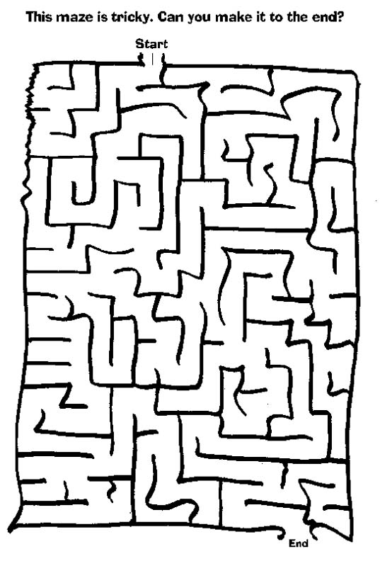 Tricky Colouring Pages