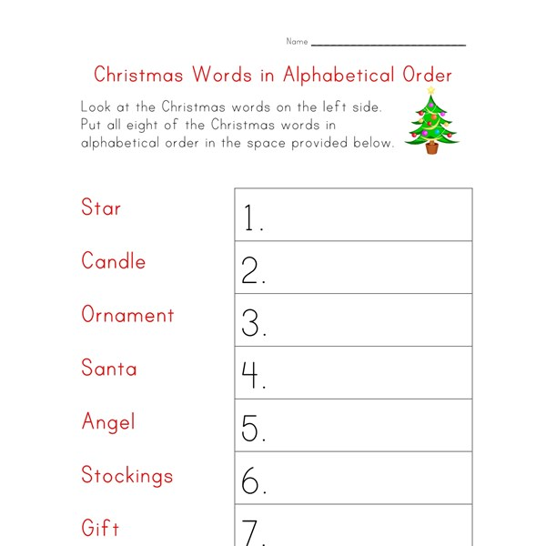 All Worksheets  Alphabetizing Worksheets