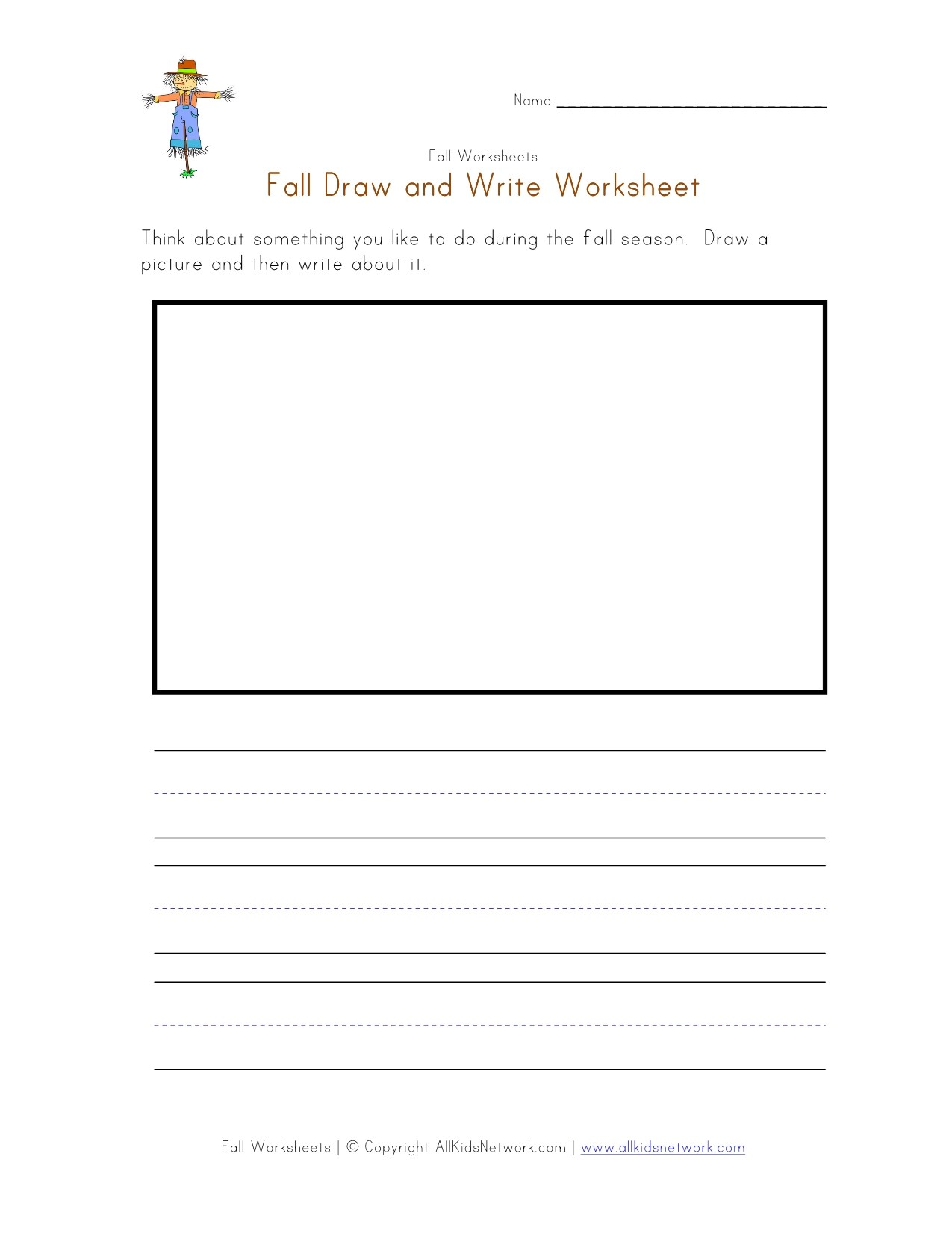Pictures Draw And Write Worksheet