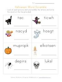 Halloween Word Scramble | Printable Worksheets