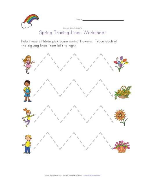 Spring Tracing Zig Zag Lines
