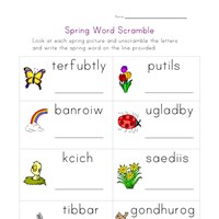 Spring Syllables Worksheet