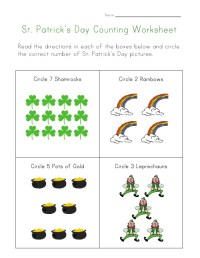 St. Patrick's Day Counting Worksheet
