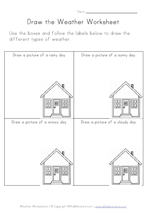 Worksheets Weather Draw The Weather Asp