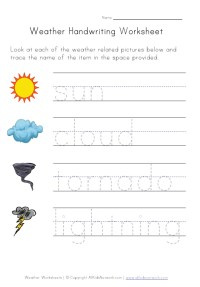 Weather Worksheet -  Our English Site