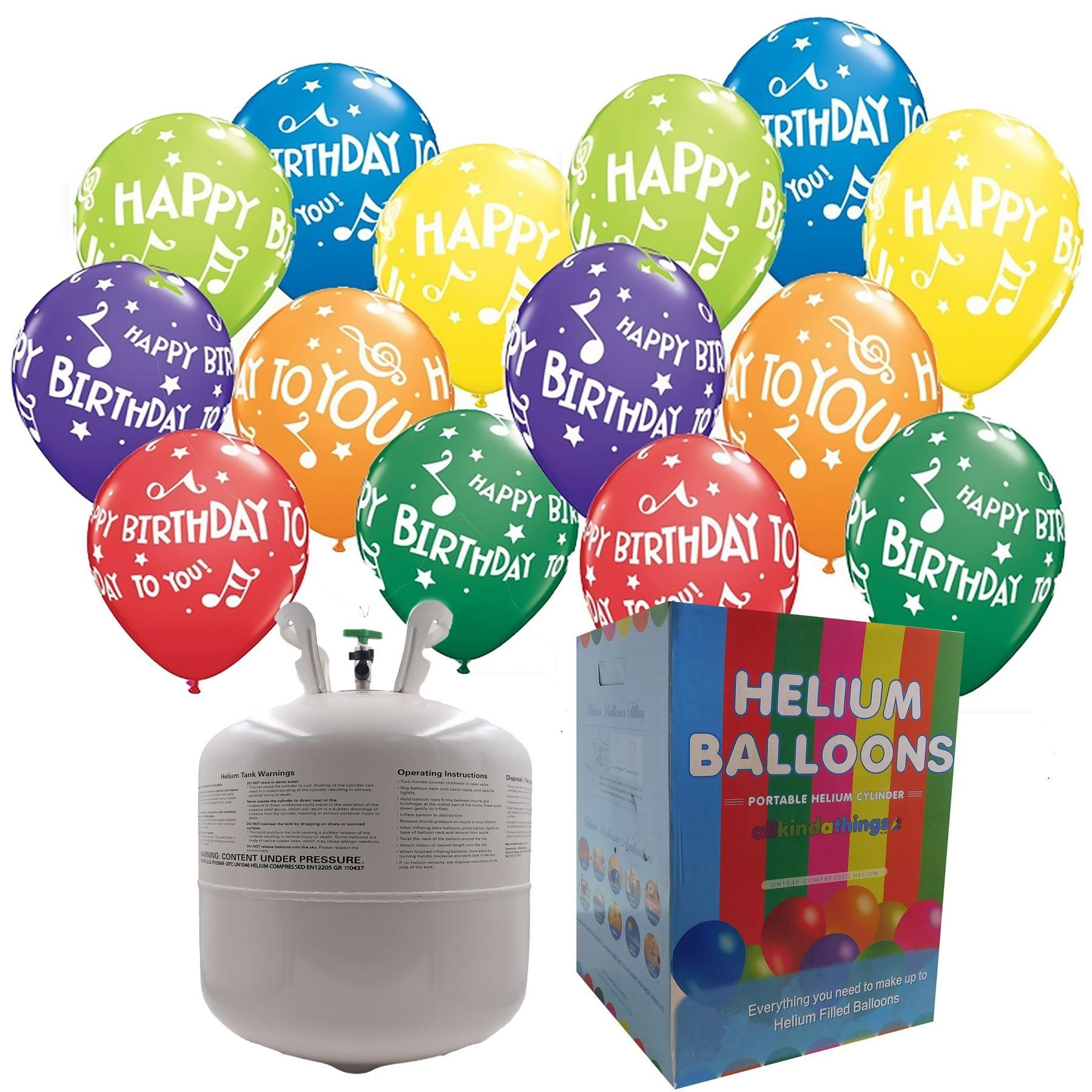 disposable helium canister complete