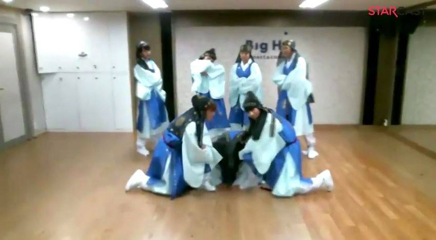BTS dance to Danger in traditional Korean outfits and