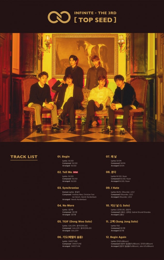INFINITE Reveal Epic Track List For 'Top Seed