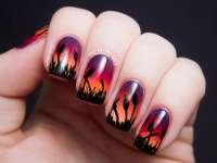 """Cattails at Sunset"" Gradient Nail Art by Chalkboard Nails ..."