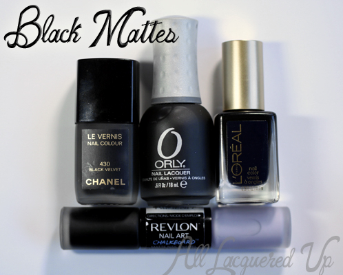 Black Matte Nail Polish From Chanel L Oreal Orly And Revlon