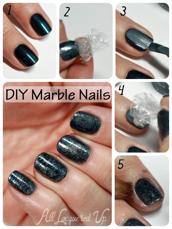 Diy Marble Nail Art Tutorial