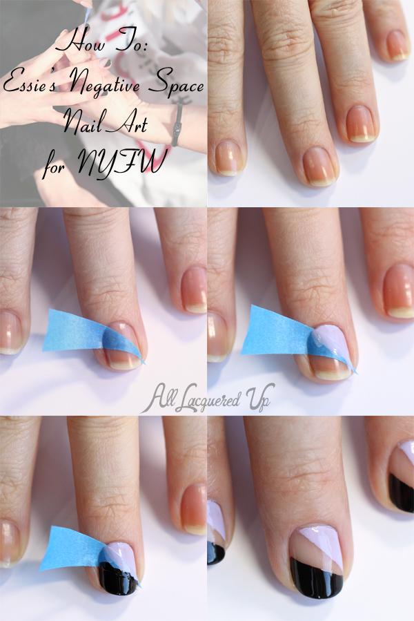 How To Essie Negative E Nail Art Tutorial