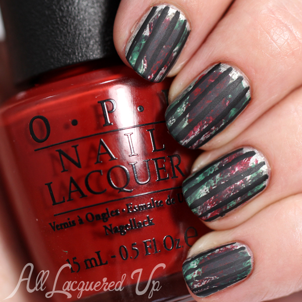 Fl Watercolor Nail Art Using Opi Fifty Shades Of Grey Via Alllacqueredup