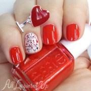 valentine's day nails - 4 red hot