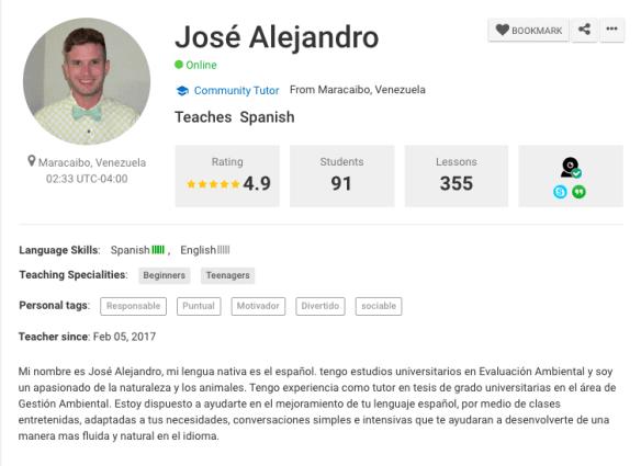profile of a teacher