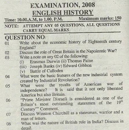PMS Paper of English General