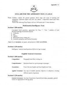 Syllabus English Math Intelligence