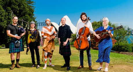 0233_Alan Morrison, Emily Kelly & Graham Coe (Jellyman's Dauger), Fiona Ross, Rick Roser, Tom Morris - Year of Scotland Launch, year of Scotland in Australia_