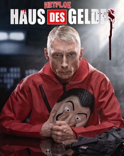 Inszeniertes Bild aus der Netflixserie Haus des Geldes Allmie Fotograf und Bildbearbeiter aus Bernau bei Berlin