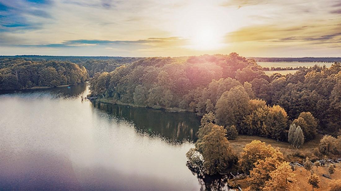 Luftbild Hellsee Lanke Barnim Allmie