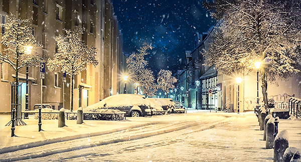 Winterlandschaft Bernau bei Berlin Schnee Allmie
