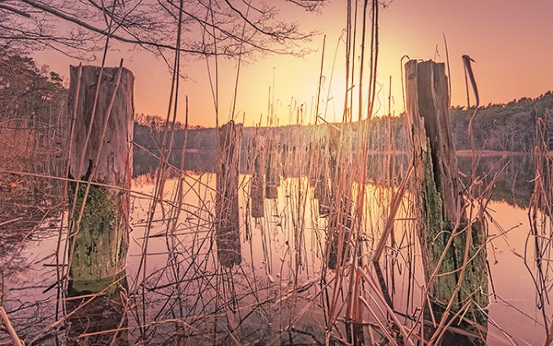 Sonnenuntergang kleiner Wuckensee Biesenthal Allmie Landschaft Barnim