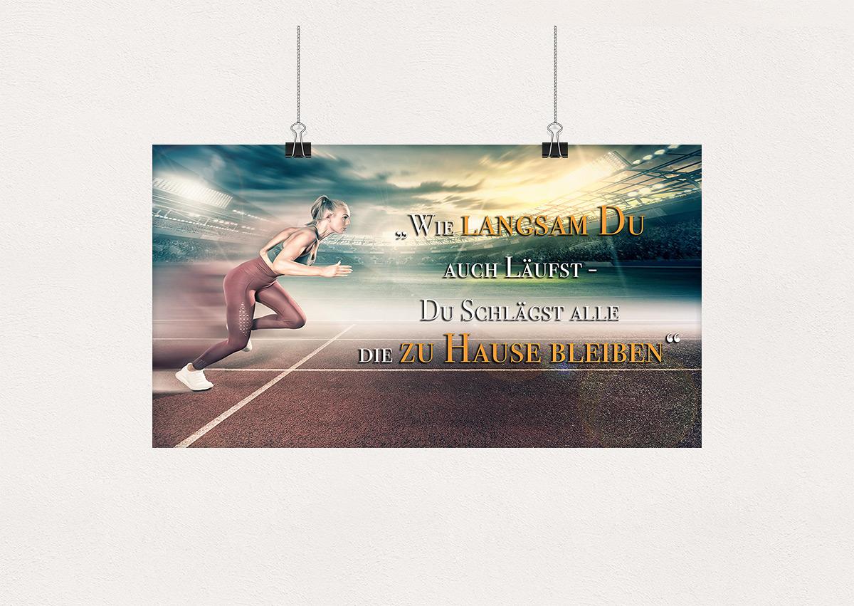 Wandposter Motivationsplakat