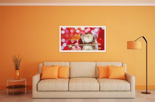 Zitat Wandbild Wir haben genug Zeit Allmie Bernau Uhr