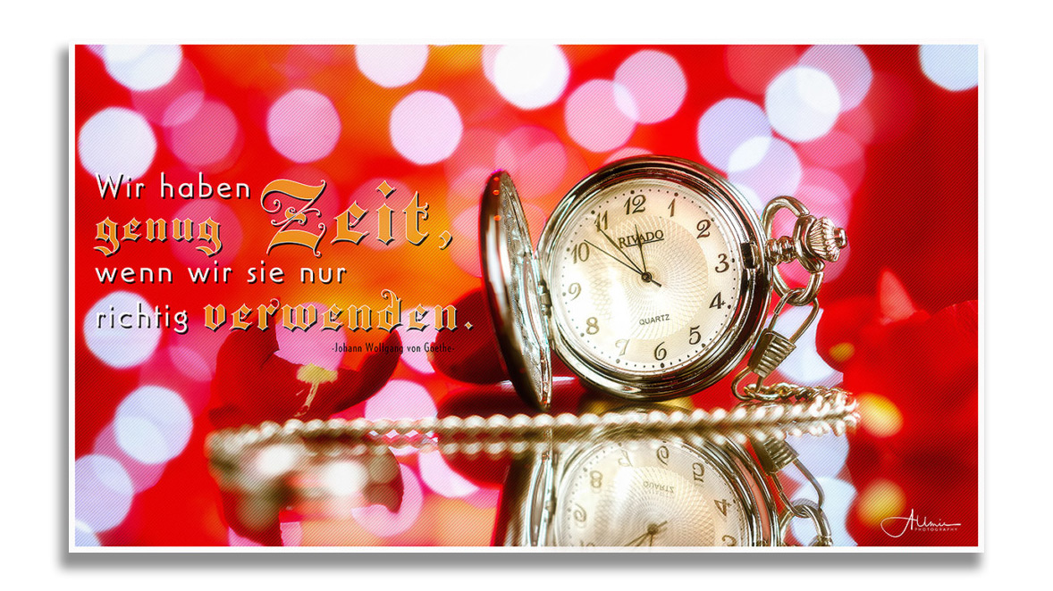 Motivations Wandbild Zeit Allmie Photography