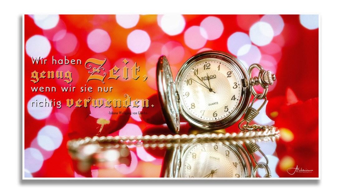 Motivations Wandbild Zeit Allmie Photography