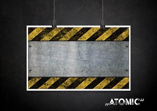 Backdrop Atomic Textur für Fotografen Allmie