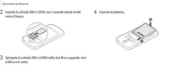 Guida Galaxy S4 inserire la micro SIM Telefonica