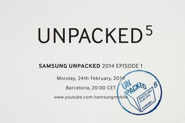 Unpacked 5 Samsung Annuncia l'evento Galaxy S5 in arrivo