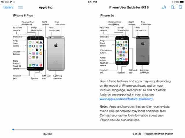 iPhone 6 e iPad iOS 8 manuale d'uso e libretto di istruzioni