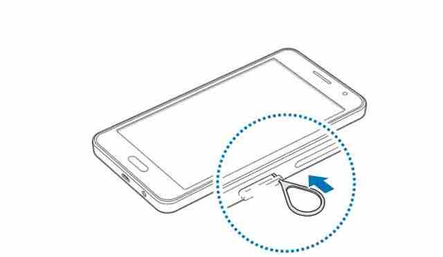 Galaxy A3 come inserire la scheda telefonica Nano SIM nel