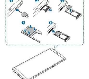 Samsung Note 8 come inserire SIM scheda telefono